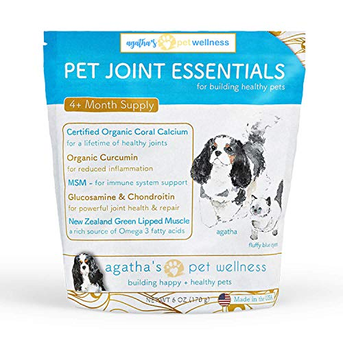 Agatha's Pet Joint Supplement for Dogs, w/Turmeric, Curcumin, Omega-3 – Helps Maintain & Repair Joints, Natural Anti-Inflammatory, Relieves Arthritis, Hip Dysplasia, Patella & Knee Issues