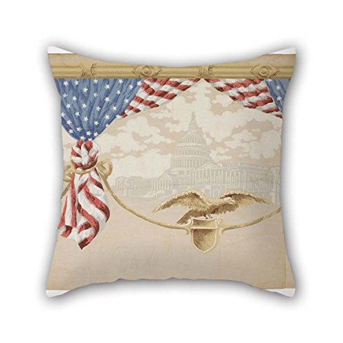 TonyLegner Oil Painting Premier Manufacturing Company - Americana Cushion Covers Best for Boy Friend Boys Play Room Pub Kitchen Husband 18 X 18 Inches / 45 by 45 cm(Twin Sides)