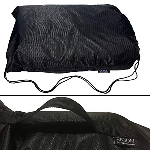 Orion Outpost Trading Company Elemental Stadium Sherpa Blanket, Waterproof, Windproof, Picnic, Wheelchair, Camping, Concerts, Bag with Shoulder Strap and Carrying Handle, 56 x 80