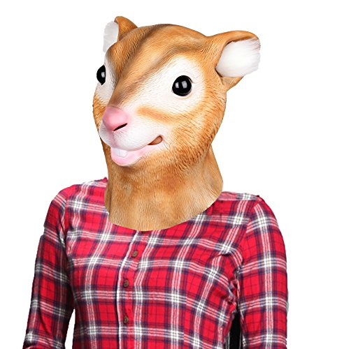 Mask Squirrel (LUBBER Squirrel Latex Animal Head Mask For Halloween)