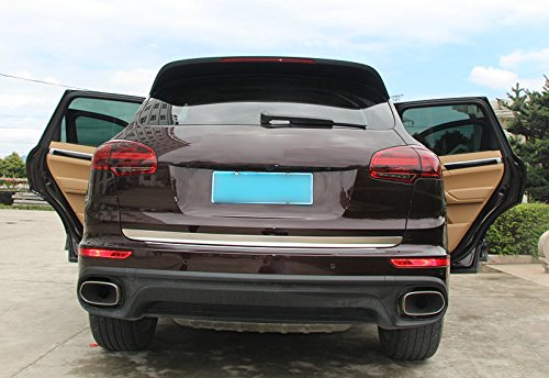 2015 for Porsche Cayenne Tailgate Rear Door Bottom Lid Protector Cover Plate