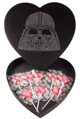 Valentines Day Gift Star Wars Darth Vader Heart Shape Felt Box With  Lollipop Suckers