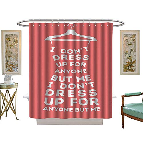 Shower Curtains with Shower Hooks Woman Dress dt Dress Up for Anye But BouClothing Satin Fabric Sets Bathroom ()