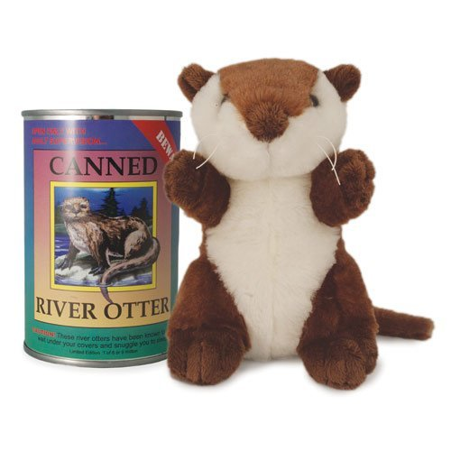 Otter Toy - Canned Critters Stuffed Animal: River Otter 6