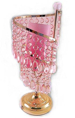 Classic Cascade Lighting (Pink Raindrops Spiral Crystal Cascade Essential Oil Warmer Lamp)