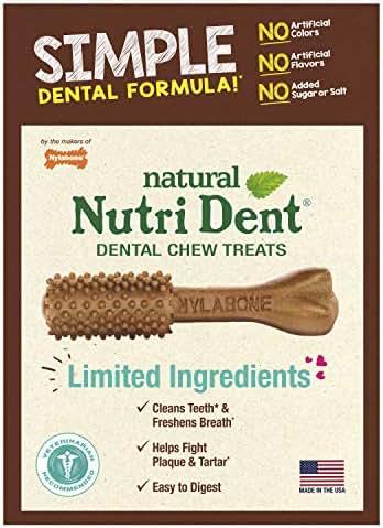 Nutri Dent Limited Ingredient Dental Dog Chews, Medium (Up To 30 Lbs)