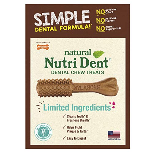 - Nutri Dent Limited Ingredient Dental Dog Chews, Medium (Up To 30 Lbs)