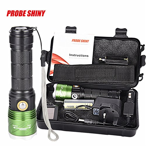 White : XML L2 LED Flashlight Torch Waterproof Set with char