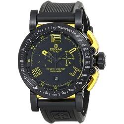 Zodiac ZMX Men's ZO8555 Racer Analog Display Swiss Quartz Black Watch