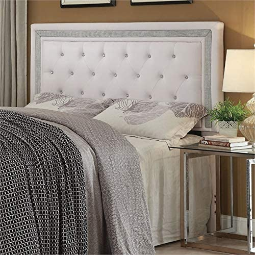 Pemberly Row Faux Leather Full Queen Panel Headboard