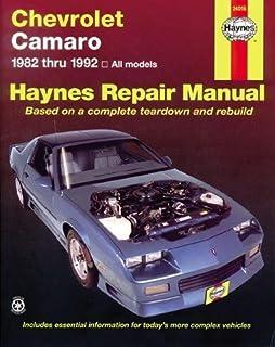amazon com haynes repair manual for camaro firebird number 24017 rh amazon com Chevy Camaro 94 02 Sensor 94 Chevy Camaro V6 Specs