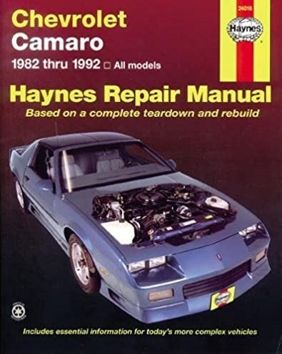 chevrolet camaro 82 92 haynes repair manuals haynes rh amazon com