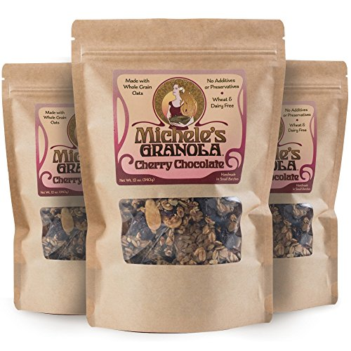 Michele's Granola Cherry Chocolate, 12 Oz Package, Pack of 3