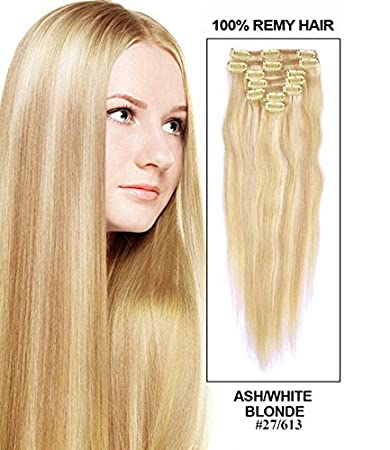 Amazon Com Romantic Angels 24inch Long Virgin Remy Human Hair Clip