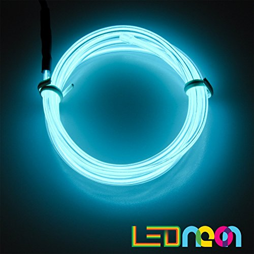 El Wire Costume Tron (15ft Neon Light El Wire w/ Battery Pack for Parties, Halloween Decoration (blue))