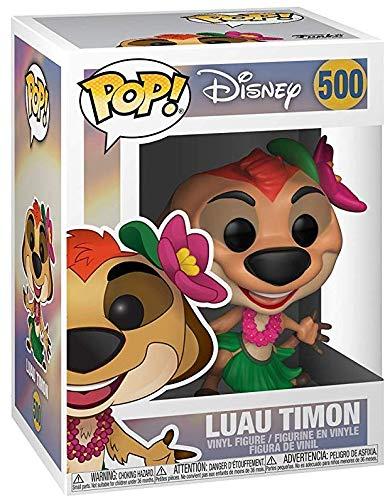 Includes Compatible Pop Box Protector Case Funko Disney: The Lion King Luau Timon Pop Vinyl Figure
