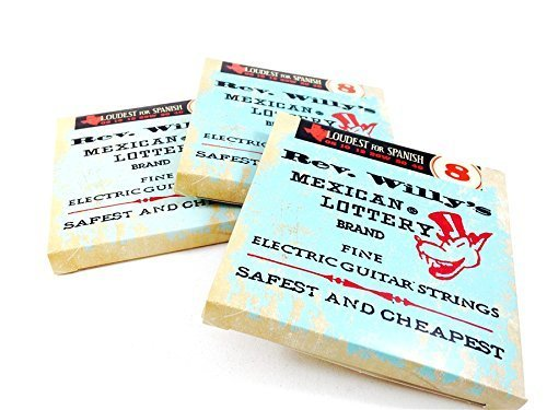 Reverend Willy's Mexican Lottery Brand Guitar Strings Electric 3 Sets 08-40