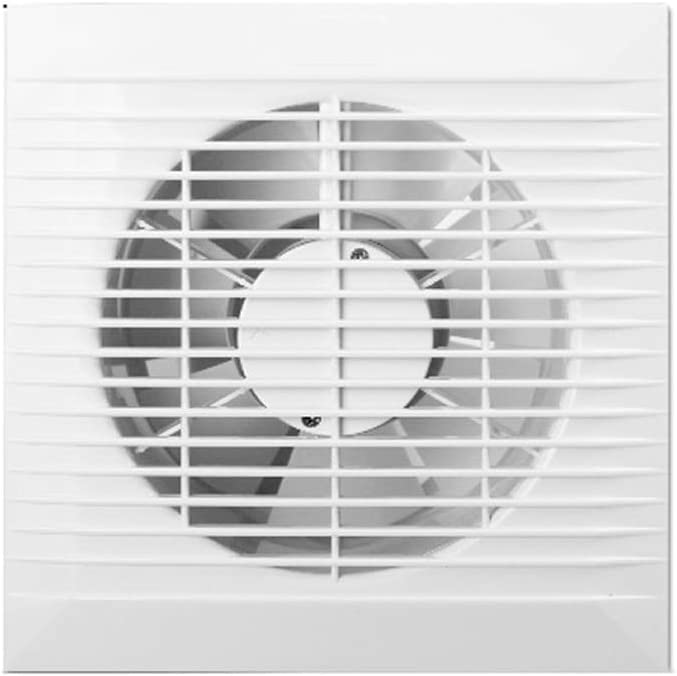 SCDMY Extintor de Pared, de Gran Alcance de Escape Silencio del hogar Ventilador, Flujo Blanco Vertical Ventilador de ventilación