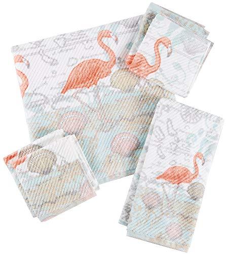 Bath Flamingo Towels - Coastal Home Mapingo Flamingo Bath Towel Collection Bath Towel White/Coral/Blue/Beige