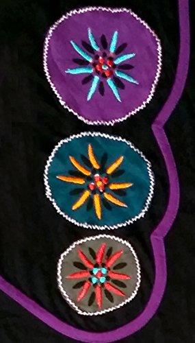 dames multicolore robe d'été avec broderie - PAINTED CHAKRA