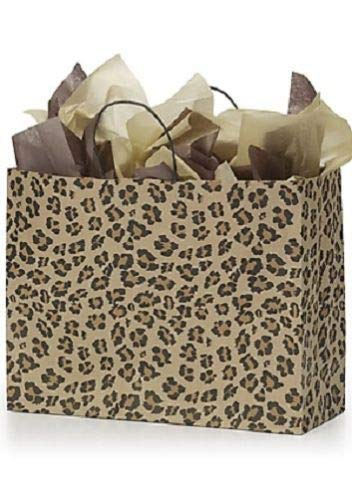 Paper Bags 50 Large Leopard Skin Retail Merchandise Shopping Cheetah 16 x 6 x 12]()