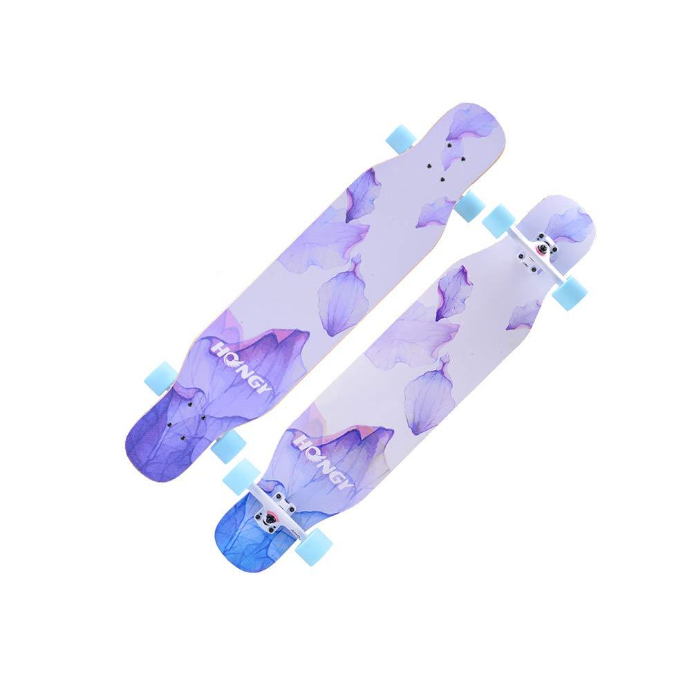 超歓迎された ZX ダンスボード ロングボード 両面パターン スケートボード purple 女の子 ブラシストリート アダルト 初心者 ダンス アダルト ダンスボード フラッシュホイール ロングボード (色 : Black and white plaid) B07H2CM9LQ Petal purple Petal purple, State:1170a730 --- a0267596.xsph.ru