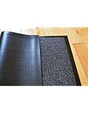 TrendMakers Barrier Mats Heavy Quality Non Slip Hard Wearing Barrier Mat. PVC Edged Heavy Duty Kitchen Mat Rug Available in 8 sizes (90cm x 150cm)-BEIGE w/Black Speckled