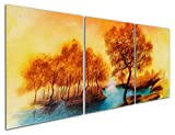 Sumeru Canvas Wall Art Landscape Paintings Abstract Trees Artworks for Home Living Room Bedroom Decoration,2 Piece, 12x16 inch, Stretched and Framed