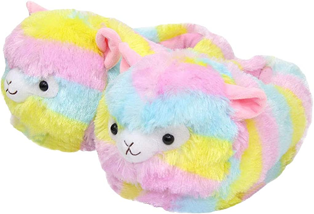 Super Fun /& Cute Fluffy Sheep Cosy Soft Faux Fur Novelty 3D Giant TV Slippers