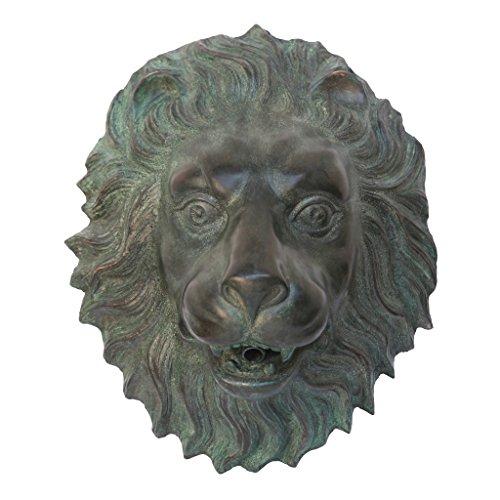 Design Toscano Florentine Lion Head Spouting Bronze Garden Wall (Green Wall Fountain)