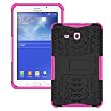 Galaxy Tab 3 Lite Case,T110 Case, Ngift [Rose] Heavy Duty Dual Layer Hybrid Shock Proof Fully Protective [Kickstand] Case for Samsung Galaxy Tab 3 Lite 7.0 SM-T110 / T111
