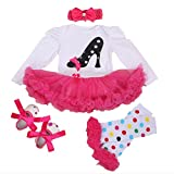 NPK A Set Doll Clothes for 20-22 inch Doll Baby Girl Clothing Matching Dairy Cow (a)
