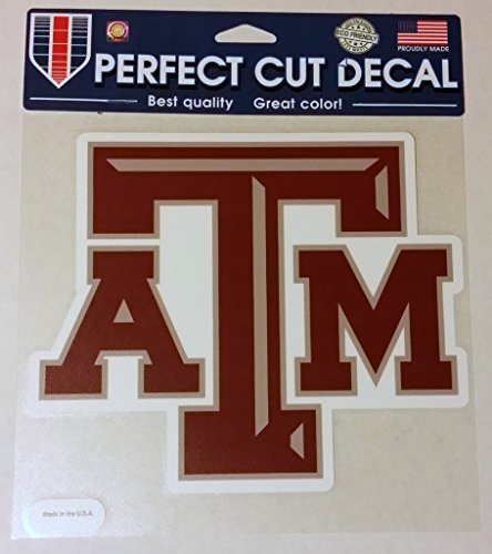 (Texas Aggies A&M NCAA Perfect Cut Decal Vinyl Auto Car Window Color Team Logo 8x8)