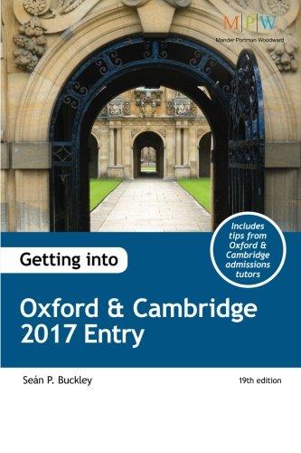 Getting into Oxford & Cambridge 2017 Entry