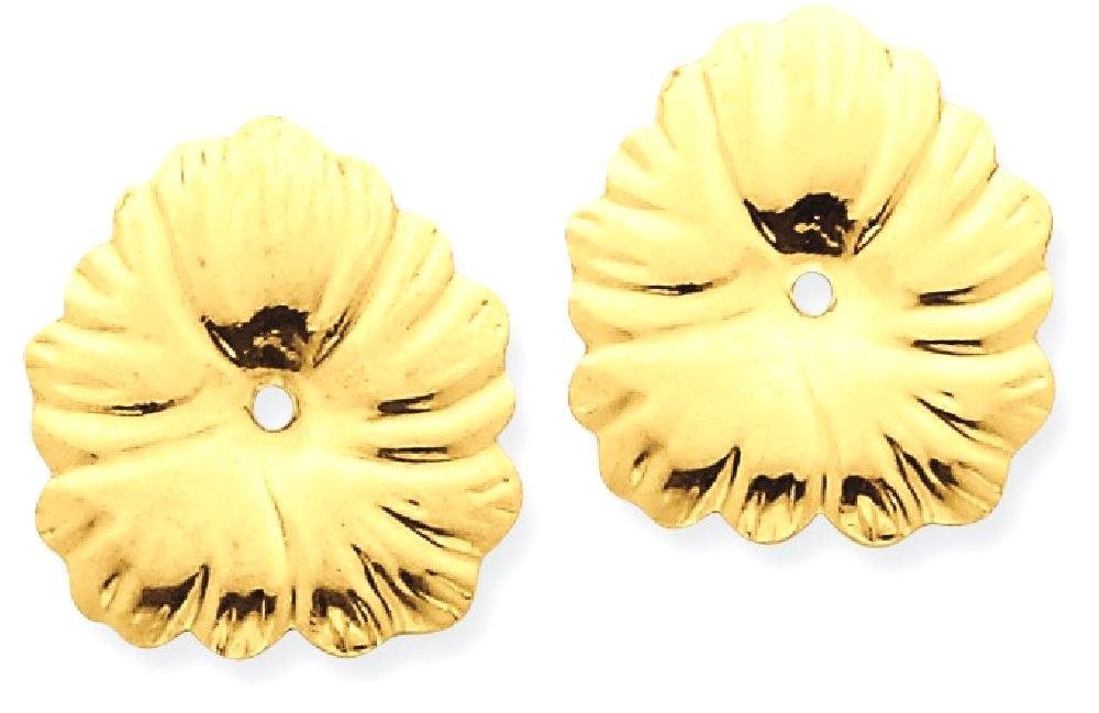 ICE CARATS 14k Yellow Gold Ear Jacket Earring Jackets For Studs Fine Jewelry Gift For Women Heart