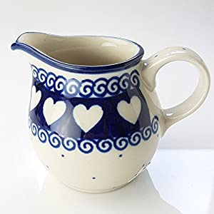 Polish Pottery Creamer Milk Jug – Light Hearted