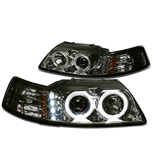 (DNA Motoring HLHPLLEDFM99SMAM Halo Projector Headlight (Driver & Passenger Side))