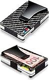 Kyпить [Real Carbon Fiber] Slim Wallet with Money Clip for Men, RFID Blocking на Amazon.com