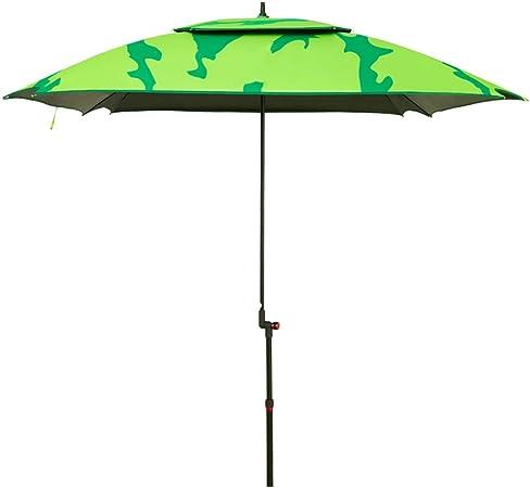 ZHUSAN Paraguas De Pesca Protección Solar Universal Plegable Ultraligero De Gran Tamaño Verde Fuerte Sombrilla para Jardín Patio Balcón Playa Al Aire Libre: Amazon.es: Hogar