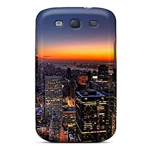 Excellent Design Orange Sunset Over New York City Case Cover For Galaxy S3