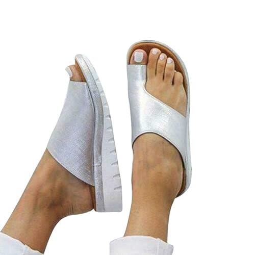 Zapatos de Plataforma cómodos,Mujer Zapatos Sandalias planaspara los juanetes,Sandalias de Mujer de