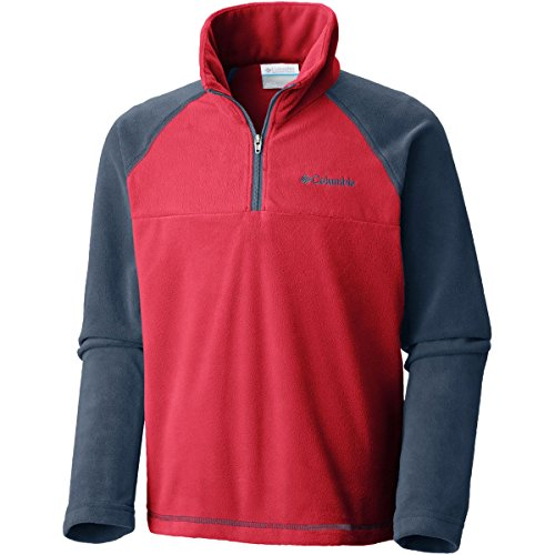 Columbia Kids Boy's Glacial¿ Half Zip (Little Kids/Big Kids) Red Spark/Dark Mountain Medium
