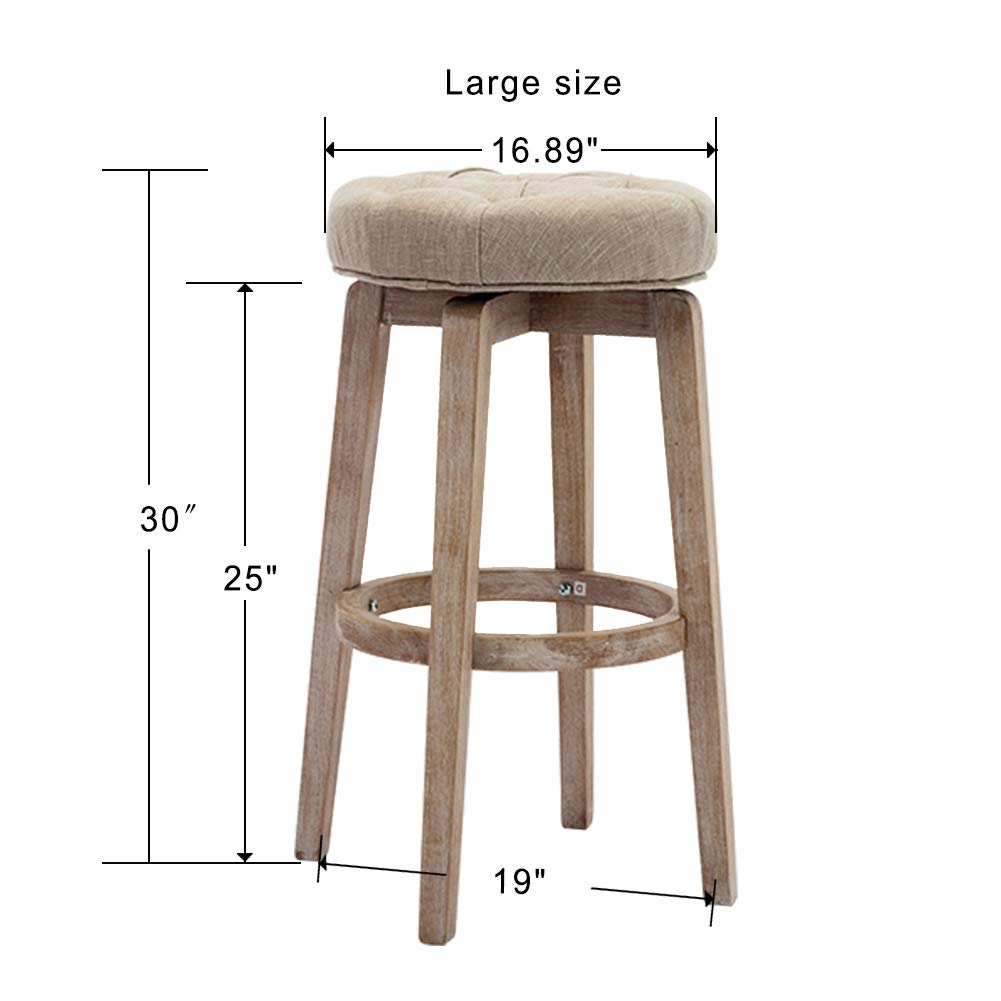 Amazoncom Kmax Counter Height Swivel Bar Stools 30 Inch