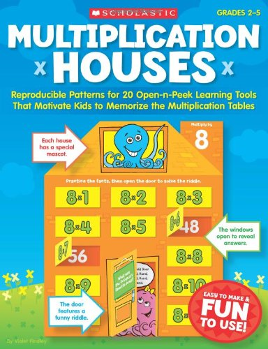 Download Multiplication Houses: Reproducible Patterns for 20 Open-n-Peek Learning Tools That Motivate Kids to Memorize the Multiplication Tables (Teaching Resources) pdf
