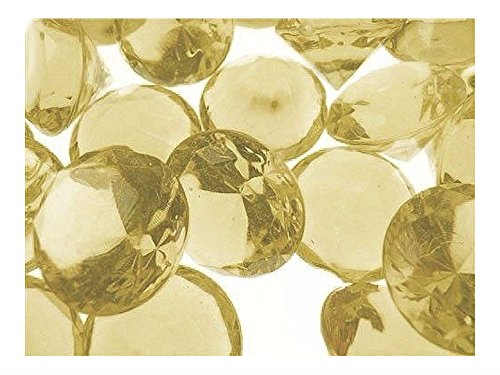 "ALL NEW! 3/4"" Acrylic Diamond Confetti Crystal Gem Stone Table Scatter 240 PCS (CHAMPAGNE)"