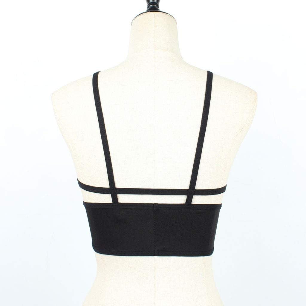 Noir Léger Rembourrage Sans Armature Soutien-gorge peut se porter sans bretelles