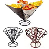 AODEW French Fry Stand Cone Basket Holder French Fry Holder Ketchup Cups Set Fries Fish and Chips and Appetizers