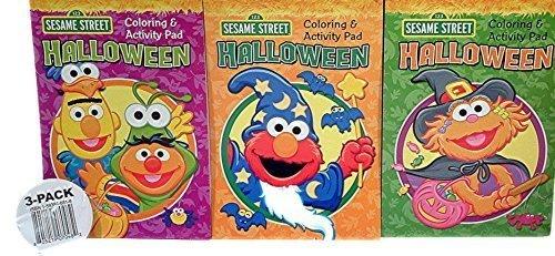 Elmo, Zoe, Bert & Ernie Halloween Coloring &