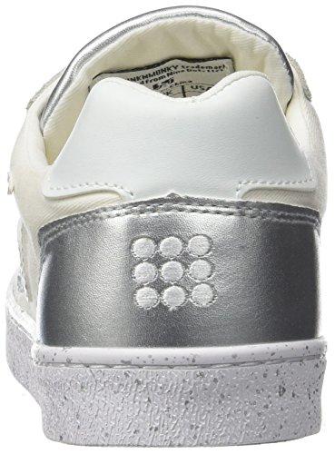 New Shiny England Silver Sneaker White Donna DrunknMunky Bianco zOwgxqg6