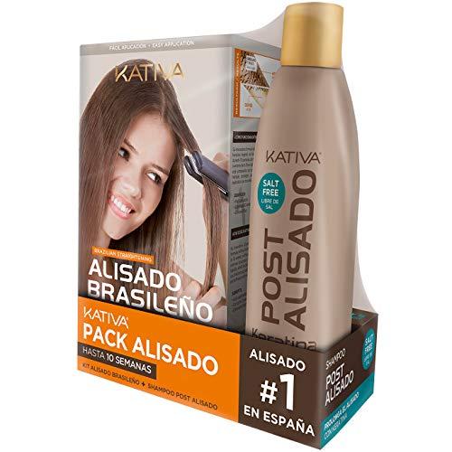 Pack ahorro Kativa Kit Alisado Brasileño con Champú Post ...